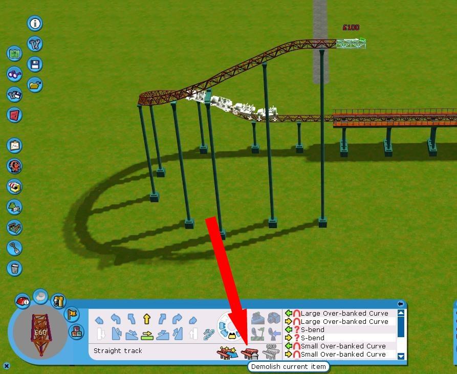Undo coaster track?